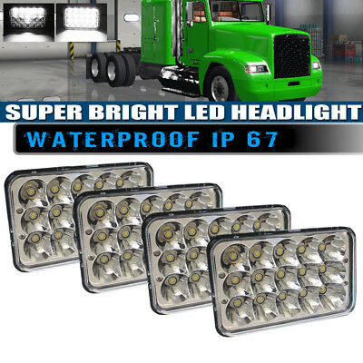 "4 pack DOT 4""X6"" LED Headlights Light Bulbs Replace H4656/4651 Sealed Headlamp"