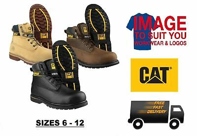 Mens Caterpillar Holton Steel Toe Cap Safety Boots Work Boots Protection