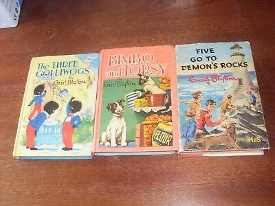 Set of three Enid Blyton Vintage Books