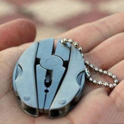Pocket Foldaway Keychain Multi-function Tools With Pliers Screwdriver Multi O16
