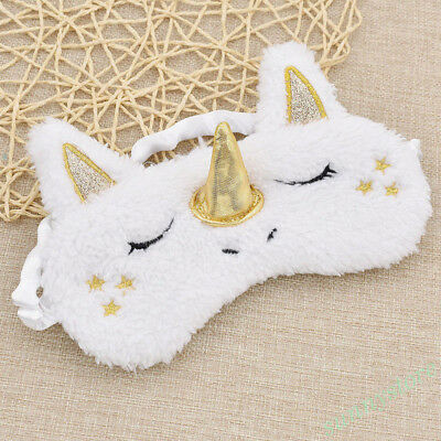 Gold Nose Sleeping Eye Shade Cover Unicorn Blindfold Travel Supplies Sleep Aider