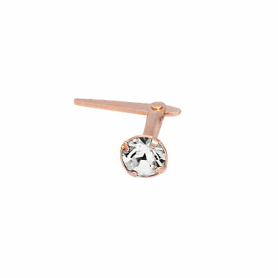 Rose Gold Plated Sterling Silver 3mm CZ Crystal Andralok Nose Stud