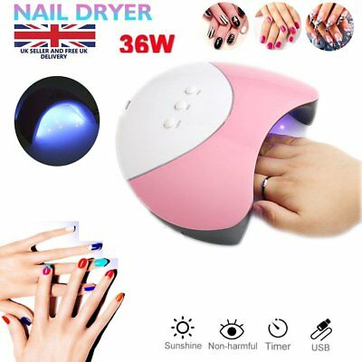 Professional 36W LED Nail Dryer Cure Lamp Machine For UV Gel Nail Polish Light