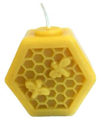 Hexagon Comb Bee Silicone Candle Mould, Make 1000 Candles,Inc wick,Made in UK