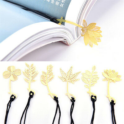 3Pcs book mark markers clips fiction non-fiction metallic page marker book FO