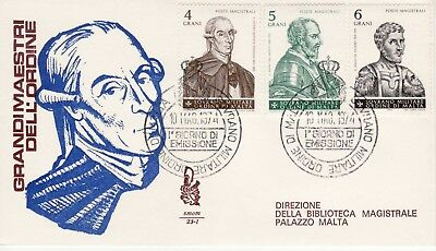 Sovereign Military Order of Malta SMOM FDC 1974 Christmas Grand Masters (a)