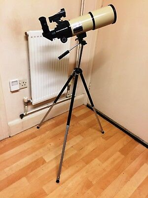 Meade ETX80 MM  Refractor On a Camera Tripod also Dovetail Mounting