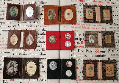 632)Lot 9 pouch reliquary Saint Therese of Lisieux - St Therese of Child Jesus