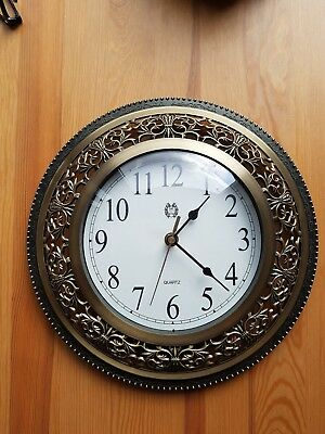 Wall Clock with Antique Brass Finish by Marks and Spencer