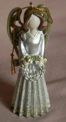 """4  4"""" Elegant Sentiment Angels From The Lakeside Collection Tree Ornament"""