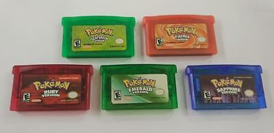 Pokemon Sapphire Emerald Ruby Firered Leafgreen Nintendo Gameboy GBA a F01