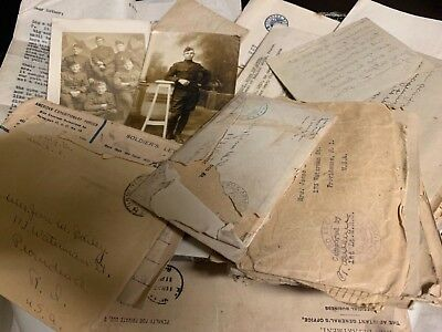 WW-I Collection Letters Hero 103D MachineGun Battalion Pershing Ambulance Corps