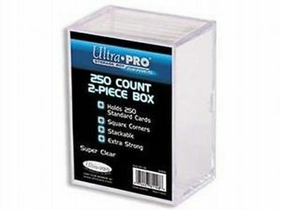 Lot of 2 Ultra Pro 250 Count 2 Piece Card Clear Storage Box Boxes New