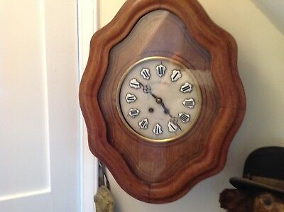 Nice Victorian French Wall Clock( Oeil-De - Bouef) 1880