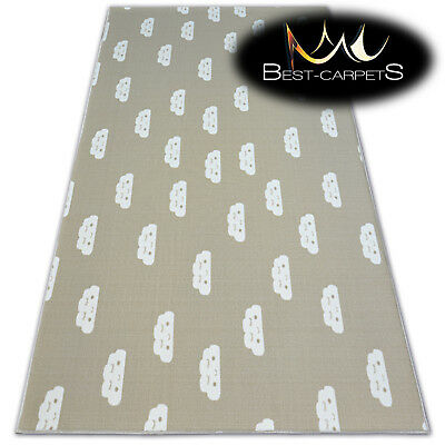 Anti-slip CHILDREN'S CARPET CLOUDS Beige Kids Play Area Bedroom Rug ANY SIZE