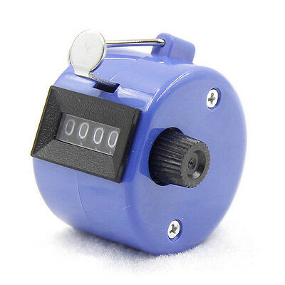 Hand Held Tally Counter Golf Manual Number Counting Palm Clicker 4 Digit Tasb FO