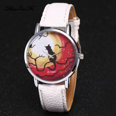 Luxury Wrist Watches PU Leather Strap Round Dial Quartz Watches for Ladies 1&