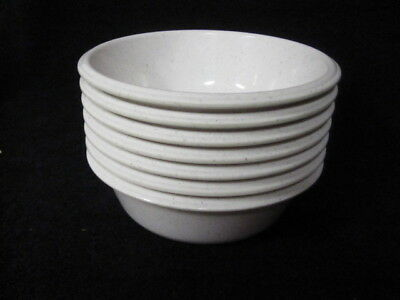 Vintage Rubbermaid Cereal Soup Salad Bowls #3836 White with specs