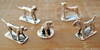 Wholesale Job Lot 5 x Sterling Silver Dogs Lakeland Terrier Dalmation Pointer