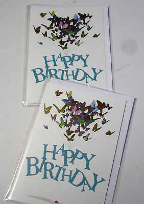 BIRTHDAY CARDS JUST 25p x 12  'TWICE AS NICE' WRAPPED, FOILED, ( F7