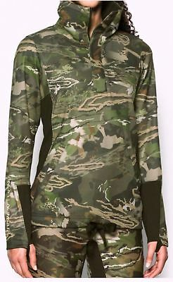 Under Armour Camo Stealth Early Season Pullover 1303771-943 Woman Size M 50% Off