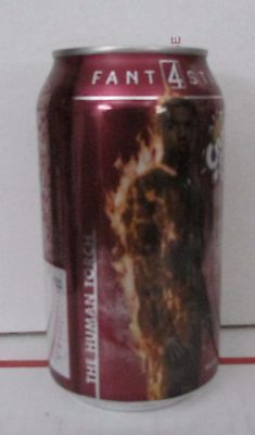 Cherry Crush Fantastic Four 4 Human Torch Can 12 oz Full Soda pop free shipping