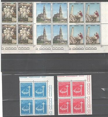 1967 - Due Serie Complete In Quartine D'angolo G.i. (Mnh)