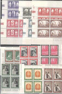 1966 - Due Serie Complete In Quartine D'angolo G.i. (Mnh)