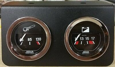 MINI COOPER DOUBLE Gauge Kit (52MM DIAMETER) TEMPERATURE GAUGE AND VOLTMETER