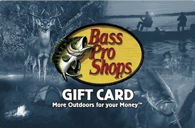 Bass Pro Shops Gift Card $25.00 Value