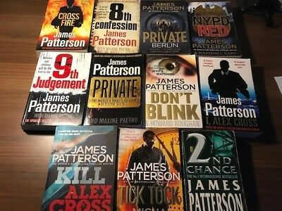 James Patterson Books X11 Job Lot