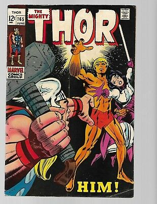 Marvel  Thor #165 1st HIM Warlock G/VG see scans and pics