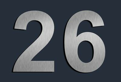 Door Numbers stainless steel Modern Self Adhesive House Numerals Sign Letters