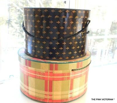Lot Of 2 Ladies Vintage Hat Boxes,ardmore Hats, Lovely Large Display Sizes*