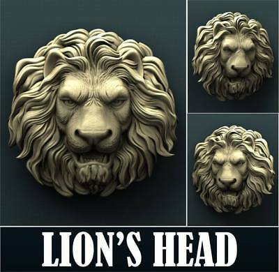 "3D STL Model for CNC Router Aspire Artcam - ""Lion's Head"""