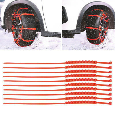 10 Pcs Snow Tire Chain for Car Truck SUV Anti-Skid Emergency Winter Driving RNG