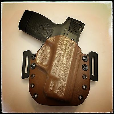 Custom Made OWB Kydex Holster  - S&W M&P Shield 45ACP - Raptor Brown