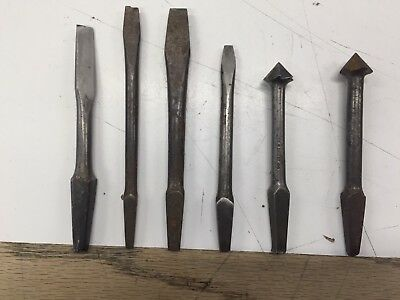 Lot of 6 Vintage audger bits 4 Flat Heads 2 Counter Sinks