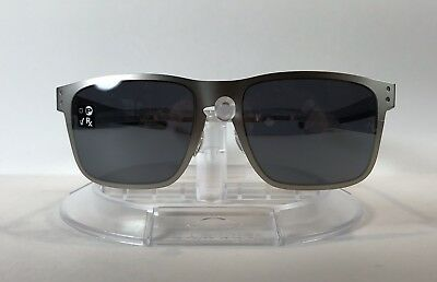 ae43943069 New OAKLEY ~HOLBROOK METAL~ Sunglasses OO4123-0355 Satin Chrome w  Black  Iridium