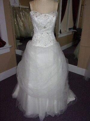 Alfred Angelo Disney Belle Wedding Gown Size 10