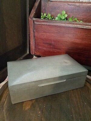 TUDRIC PEWTER TRINKET - CIGAR COFFIN BOX. Liberty Co England 1021