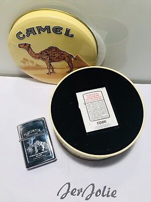 Zippo CAMEL *BRAND NEW* *MINT IN TIN* Double Sided Chrome Classic Pack Oasis