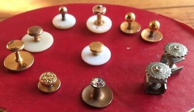 11 Miscellaneous Vintage SHIRT STUDS BUTTONS CUFF LINKS inc MAW SON & THOMPSON