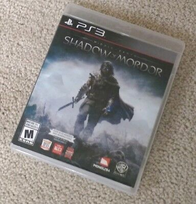 Middle Earth: Shadow of Mordor (PlayStation 3) PS3 Complete EXCELLENT LIKE NEW