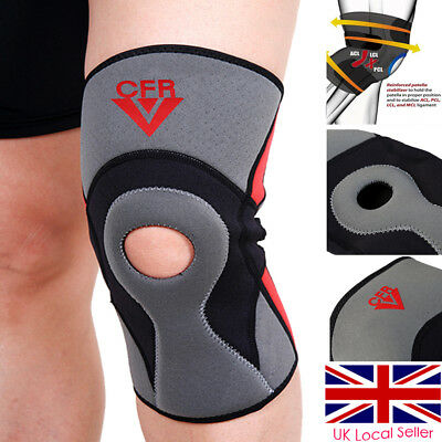Neoprene Knee Support Open Patella Tendon Brace Injury Pain Relief Strap Sleeve