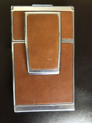 Polaroid SX-70 Land CameraTan Leather    UNTESTED   parts/repair only