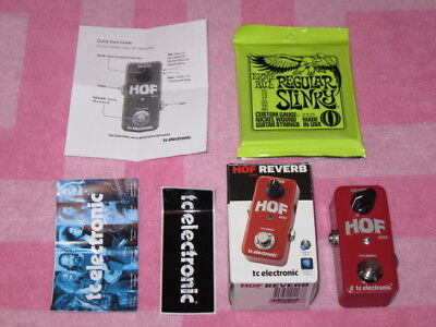 A+ new TC Electronic Hall of Fame HOF Mini Reverb + box,sticker,feet,pw,strings