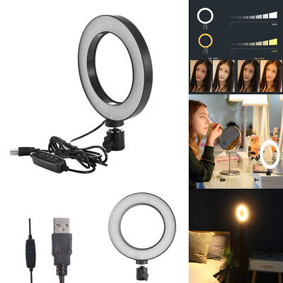 "6"" LED SMD Ring Light Dimmable 5500K Lamp Photography Camera Studio Phone Video"