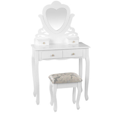 NEW White Artiss Dressing Table with Stool - DwellHome,Dressing Tables