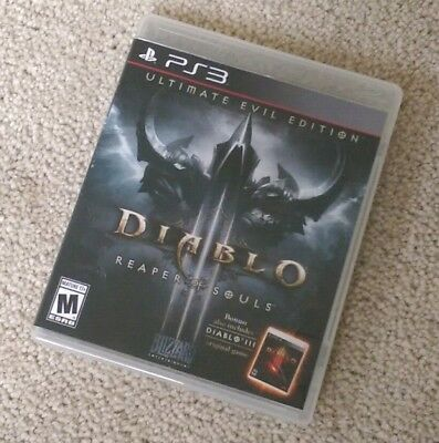 Diablo 3: Reaper Of Souls (PlayStation 3) PS3 Complete EXCELLENT LIKE NEW